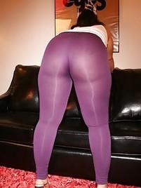 black spandex in Huge ass